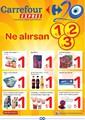 Carrefour Expres Ne Alırsan 1-2-3 TL İndirim Broşürü Sayfa 1