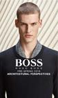 """Hugo Boss Erkek İlkbahar Öncesi 2016 """"Architectural Persfectives"""" Lookbook Sayfa 1"""
