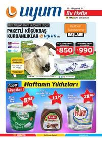 Uyum Market 11-18 Ağustos 2017 Kampanya Broşürü! Sayfa 1