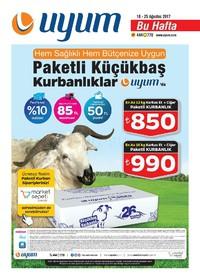 Uyum Market 18-25 Ağustos 2017 Kampanya Broşürü! Sayfa 1