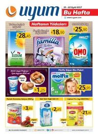 Uyum Market 15-22 Eylül 2017 Kampanya Broşürü: Bu Hafta Sayfa 1 Önizlemesi
