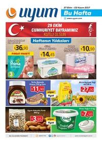 Uyum Market 27 Ekim - 3 Kasım 2017 Kampanya Broşürü: Bu Hafta Sayfa 1 Önizlemesi