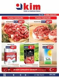 Kim Market 25 Ekim - 9 Kasım 2017 Kampanya Broşürü! Sayfa 1 Önizlemesi
