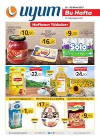 Uyum Market 13-20 Ekim 2017 Kampanya Broşürü: Bu Hafta Sayfa 1 Önizlemesi