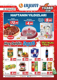 Uyum Market 22 - 31 Aralık 2017 Kampanya Broşürü! Sayfa 1