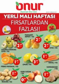 Onur Market Bursa Özel 08 - 10 Aralık 2017 Kampanya Broşürü! Sayfa 1