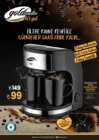 Gold Master Zinde Filtre Kahve Makinesi Kampanya Broşürü! Sayfa 1
