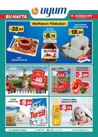 Uyum Market 15 - 22 Aralık 2017 Kampanya Broşürü! Sayfa 1