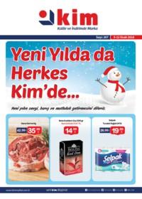 Kim Market 05 - 18 Ocak 2018 Ege Bölgesi Kampanya Broşürü! Sayfa 1