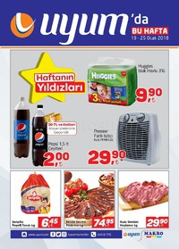 Uyum Market 19 - 25 Ocak 2018 Kampanya Broşürü! Sayfa 1