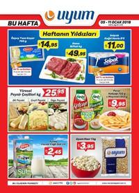 Uyum Market 05 - 11 Ocak 2018 Kampanya Broşürü! Sayfa 1