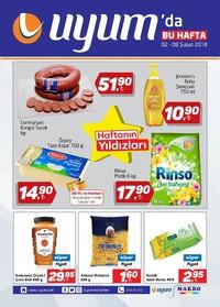 Uyum Market 02 - 08 Şubat 2018 Kampanya Broşürü! Sayfa 1