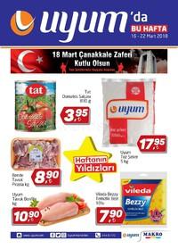 Uyum Market 16 - 22 Mart 2018 Kampanya Broşürü! Sayfa 1
