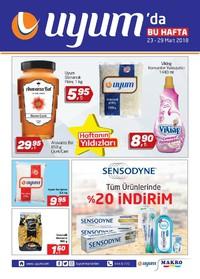Uyum Market 23 - 29 Mart 2018 Kampanya Broşürü! Sayfa 1