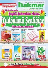 Hakmar 22 - 25 Mart 2018 Kampanya Broşürü! Sayfa 1