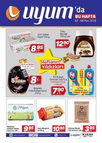 Uyum Market 02 - 08 Mart 2018 Kampanya Broşürü! Sayfa 1 Önizlemesi