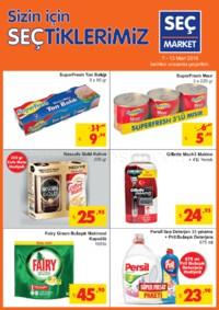 Seç Market 07 - 13 Mart 2018 Kampanya Broşürü! Sayfa 1