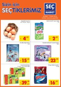 Seç Market 28 Mart - 03 Nisan 2018 Kampanya Broşürü! Sayfa 1