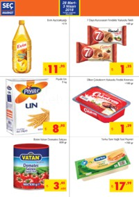Seç Market 28 Mart - 03 Nisan 2018 Kampanya Broşürü! Sayfa 2