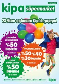 Kipa Süpermarket 12 - 25 Nisan 2018 Kampanya Broşürü: 23 Nisan Çoşkusu! Sayfa 1