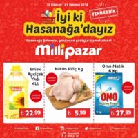 Milli Pazar Market 30 Haziran - 01 Temmuz 2018 Hasanağa Şubesi Özel Kampanya Broşürü! Sayfa 1