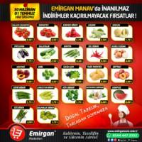 Emirgan Market 30 Haziran - 01 Temmuz 2018 Kampanya Broşürü! Sayfa 1