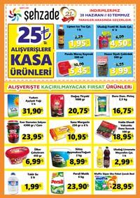 Şehzade Market 20 Haziran - 03 Temmuz 2018 Kampanya Broşürü! Sayfa 1