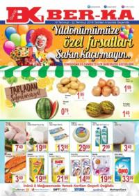 Grup Ber-ka Market 19 - 22 Temmuz 2018 Yenidoğan ve Zümrütevler Kampanya Broşürü! Sayfa 1