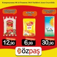 Özpaş Market 08 - 14 Temmuz 2018 Kampanya Broşürü! Sayfa 1