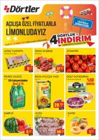 Dörtler Market 05 - 08 Temmuz 2018 Limonlu Şubesi Özel Kampanya Broşürü! Sayfa 1