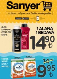 Sarıyer Market 20 Temmuz - 01 Ağustos 2018 Kampanya Broşürü! Sayfa 1