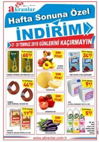 Akranlar Süpermarket 27 - 29 Temmuz 2018 Kampanya Broşürü! Sayfa 1