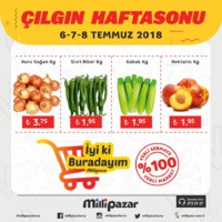 Milli Pazar Market 06 - 08 Temmuz 2018 Kampanya Broşürü! Sayfa 1