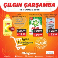 Milli Pazar Market 18 Temmuz 2018 Kampanya Broşürü! Sayfa 1 Önizlemesi