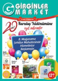 Girginler Market 27 Haziran - 04 Temmuz 2018 Kampanya Broşürü! Sayfa 1
