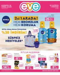 Eve Kozmetik 28 Haziran - 01 Ağustos 2018 Kampanya Broşürü! Sayfa 1