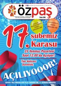 Özpaş Market 21 Temmuz - 05 Ağustos 2018 Kampanya Broşürü! Sayfa 1