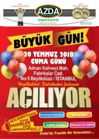Azda Süpermarket 20 - 22 Temmuz 2018 Kampanya Broşürü! Sayfa 1