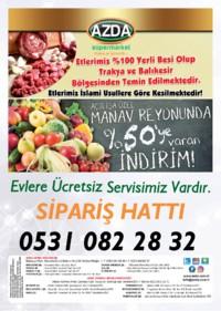 Azda Süpermarket 20 - 22 Temmuz 2018 Kampanya Broşürü! Sayfa 4 Önizlemesi