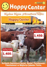Happy Center 27 Temmuz - 21 Ağustos 2018 Kurban Bayramı Kurbanlık Kampanyası Sayfa 1