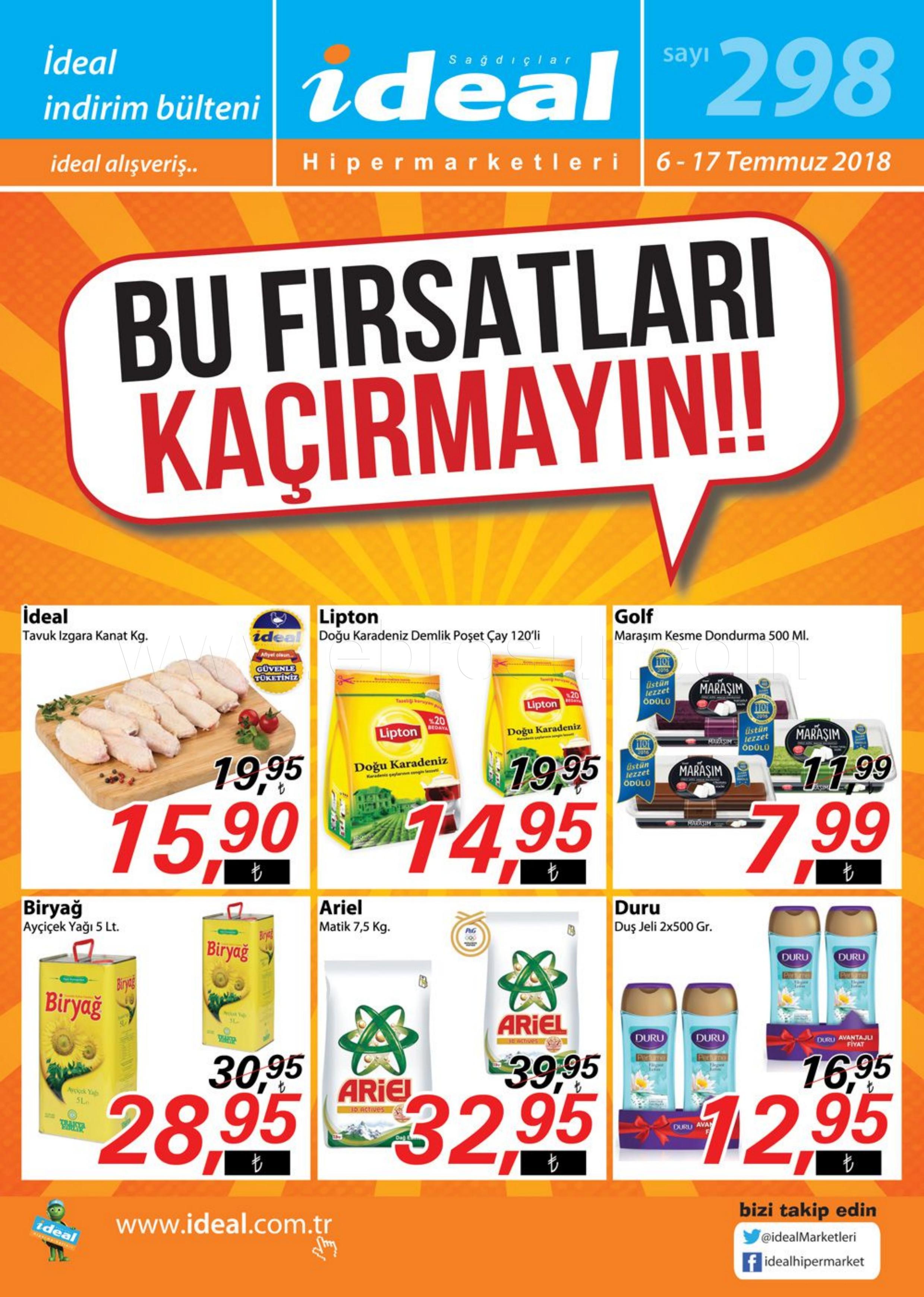 İdeal Hipermarket 06 - 17 Temmuz 2018 Kampanya Broşürü! Sayfa 1