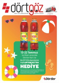Dörtler Market 16 - 31 Temmuz 2018 Kampanya Broşürü! Sayfa 1
