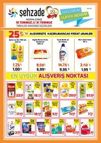 Şehzade Market 18 - 31 Temmuz 2018 Kampanya Broşürü! Sayfa 1