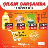 Milli Pazar Market 11 - 15 Temmuz 2018 Kampanya Broşürü! Sayfa 1
