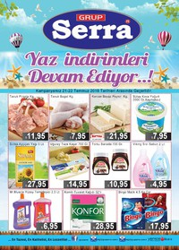 Serra Market 21 - 22 Temmuz 2018 Kampanya Broşürü! Sayfa 1