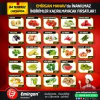 Emirgan Market 04 Temmuz 2018 Kampanya Broşürü! Sayfa 1