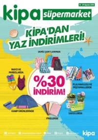 Kipa Süpermarket 16 - 29 Ağustos 2018 Kampanya Broşürü: Kipa' dan Yaz İndirimleri! Sayfa 1 Önizlemesi
