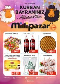 Milli Pazar Market 15 - 21 Ağustos 2018 Kampanya Broşürü! Sayfa 1