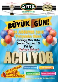 Azda Süpermarket 16 - 27 Ağustos 2018 Kampanya Broşürü! Sayfa 1