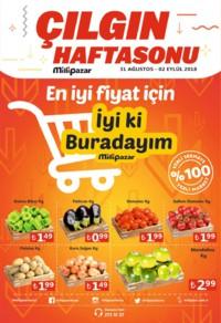 Milli Pazar Market 31 Ağustos - 02 Eylül 2018 Kampanya Broşürü! Sayfa 1